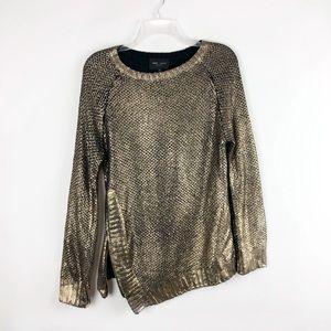 Revolve Romeo + Juliet Couture Gold Paint Zipper